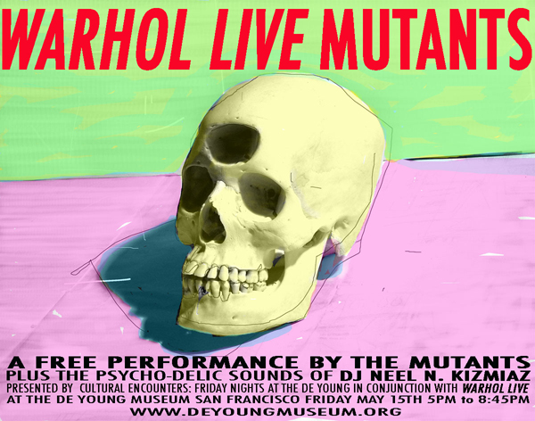 mutants warhol live at San Francisco De Young Museum