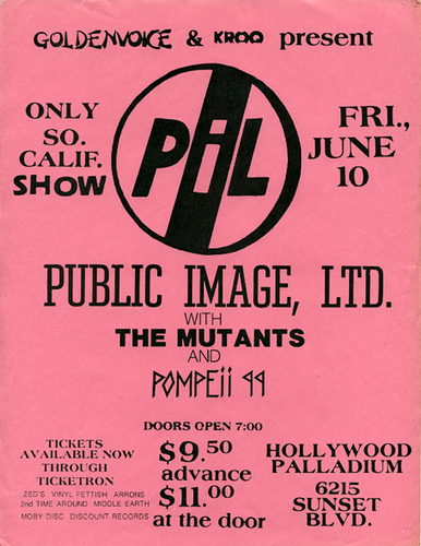 public image ltd. hollywood palladium
