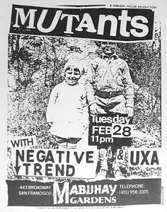 mutants negative trend UXA mabuhay gardens